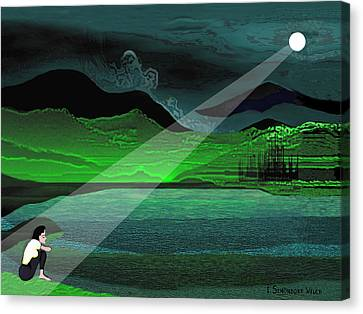 Consolation - 695 Canvas Print by Irmgard Schoendorf Welch