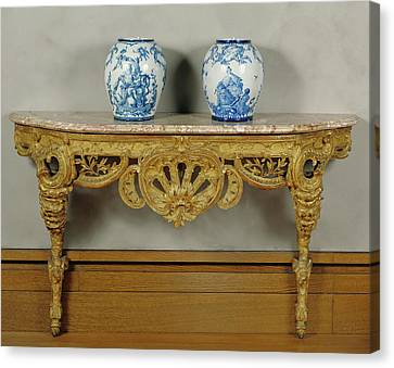 Console Table Unknown Piedmont , Italy Canvas Print