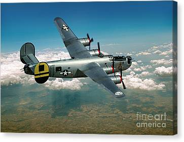 Consolidated B-24 Liberator Canvas Print by Wernher Krutein
