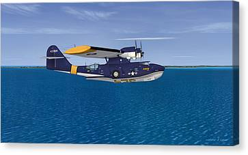 Consolidated Pby-5a Catalina Canvas Print by Walter Colvin