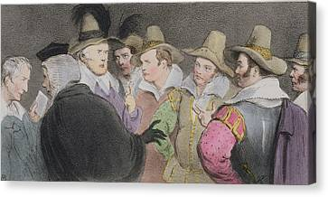 Conspiracy To Blow Up The Parliament Canvas Print by John Doyle