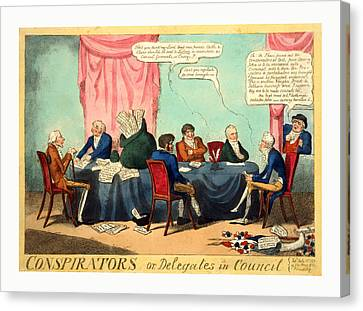 Conspirators Or, Delegates In Council, Cruikshank, George Canvas Print
