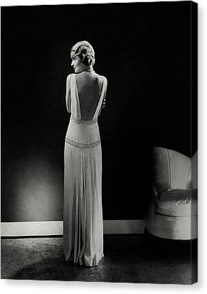 1933 Canvas Print - Constance Bennett As Seen From Behind by Edward Steichen