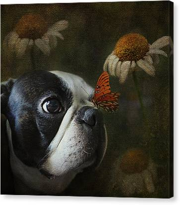 Constant Companion Canvas Print by Kathleen Holley
