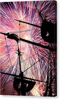 Canvas Print featuring the photograph Constellation Fourth by Mike Flynn