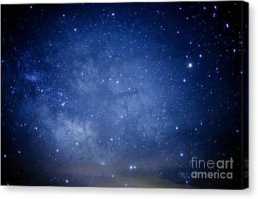 Constellations And Milky Way Canvas Print by Thomas R Fletcher
