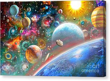 Constellations And Planets Canvas Print by Adrian Chesterman