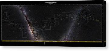 Constellations Of The Zodiac Canvas Print by Eckhard Slawik