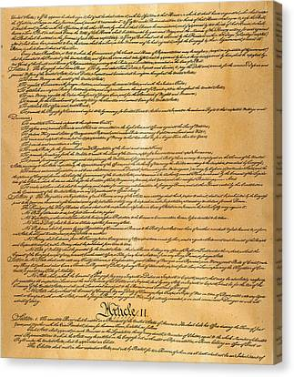 Constitution, 1787 Canvas Print by Granger