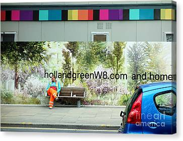 Construction 01 - Somewhere Under The Rainbow Canvas Print by Pete Edmunds
