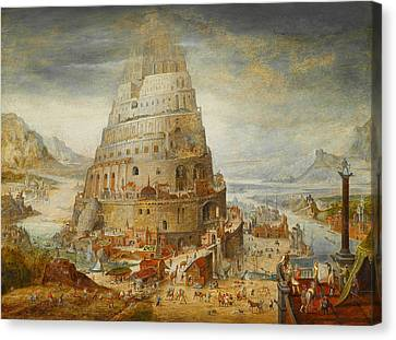 Construction Of The Tower Of Babel Canvas Print