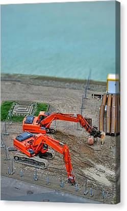 Construction Canvas Print by Olivier Le Queinec