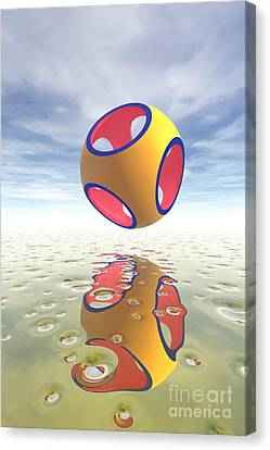 Constructive Solid Geometry Csg Canvas Print by Carol and Mike Werner