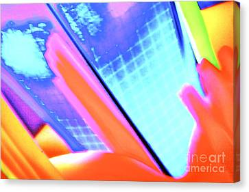 Consuming The Grid Canvas Print by Xn Tyler