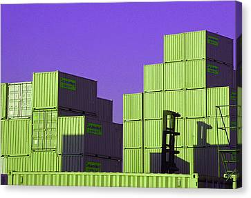 Containers 18 Canvas Print by Laurie Tsemak
