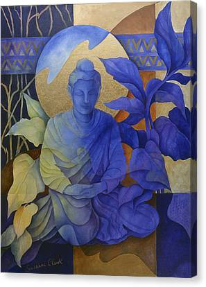 Buddhist Canvas Print - Contemplation - Buddha Meditates by Susanne Clark