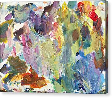 Abstract Expressionism Canvas Print - Contemplation by David Lloyd Glover