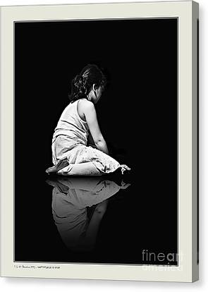Canvas Print featuring the photograph Contemplation In Dark by Pedro L Gili