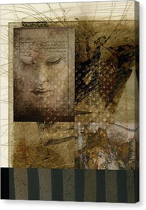 Abstract Digital Canvas Print - Contemplation In Sepia by Ann Powell