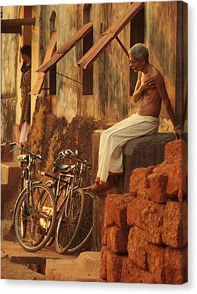 Contemplation. Indian Collection Canvas Print by Jenny Rainbow