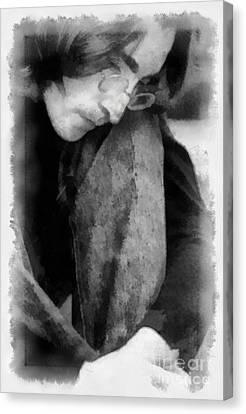 Contemplative John Canvas Print by Paulette B Wright
