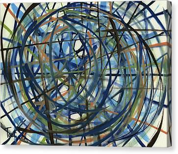 Contemporary Art Seventeen Canvas Print
