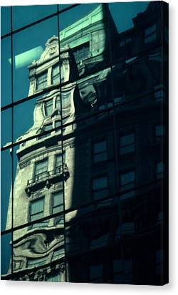 Canvas Print featuring the photograph Contemporary Reflects The Past by Ben Kotyuk