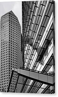 Airlines Canvas Print - Continental Center I Houston Tx by Christine Till