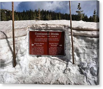Continental Divide Canvas Print by Dan Sproul