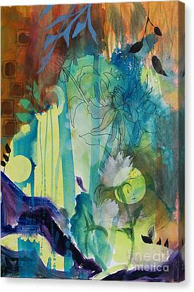 Canvas Print featuring the painting Continuum by Robin Maria Pedrero