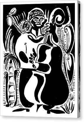 Contrabass Canvas Print by Vadim Vaskovsky