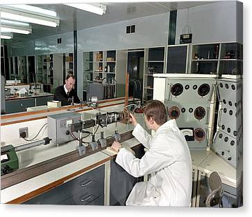 Control And Instrumentation Research Canvas Print by Crown Copyright/health & Safety Laboratory Science Photo Library