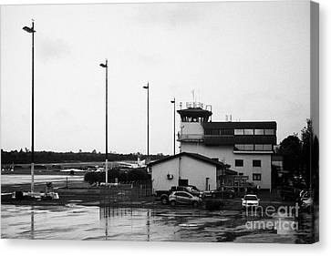 Control Tower At El Tepual Airport Puerto Montt Chile Canvas Print