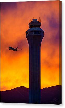 Traffic Control Canvas Print - Control Tower by Dustin  LeFevre