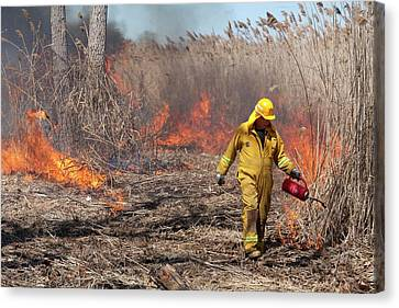 Controlled Fire Canvas Print by Jim West