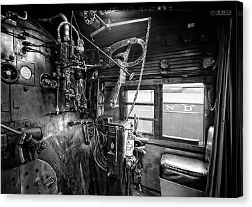 Controls Of Steam Locomotive No. 611 C. 1950 Canvas Print by Daniel Hagerman