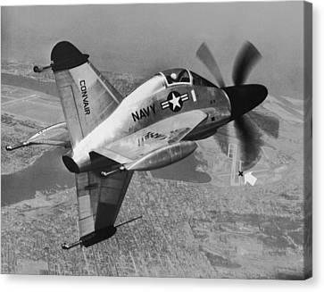 Convair's Xfy-1, pogo Canvas Print by Underwood Archives