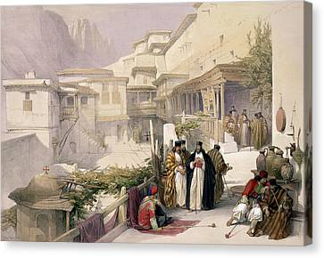 Orthodox Canvas Print - Convent Of St. Catherine, Mount Sinai by David Roberts
