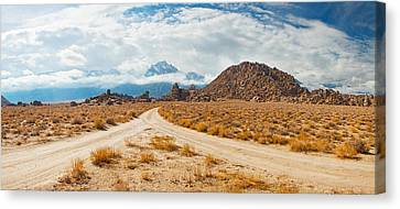 Converging Roads, Alabama Hills, Owens Canvas Print