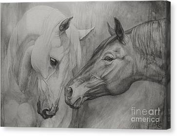 Conversation Ill Canvas Print by Silvana Gabudean Dobre