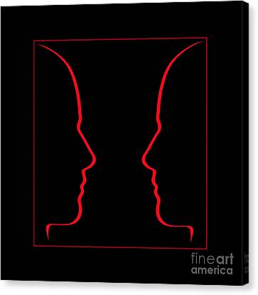 Conversation Space Canvas Print by Judith  Flacke