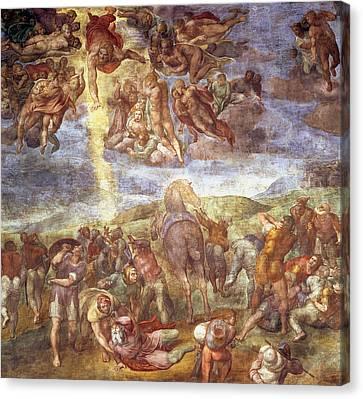 Conversion Of St. Paul Fresco Canvas Print