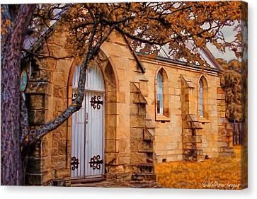 Convict Built Church 1873 Canvas Print