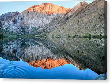 Canon 7d Canvas Print - Convict Lake At Sunrise by Donna Kennedy