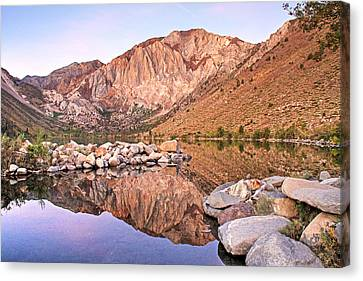 Convict Lake Canvas Print by Donna Kennedy