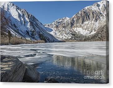 Convict Lake Morning Canvas Print by Sandra Bronstein