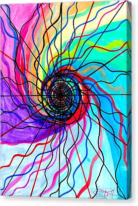 Spiritual Art Canvas Print - Convolution by Teal Eye  Print Store