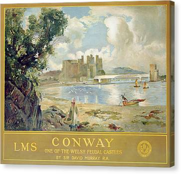 Conway Castle Canvas Print by Sir David Murray