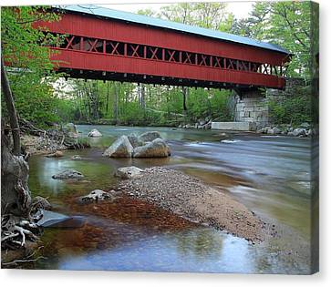 Conway Covered Bridge Canvas Print by Andrea Galiffi
