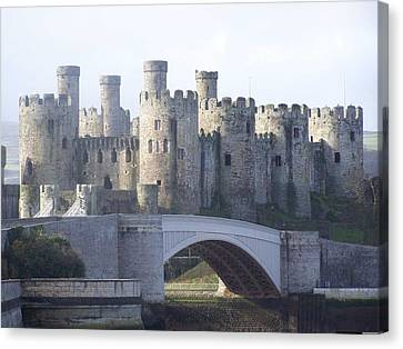 Canvas Print featuring the photograph Conwy Castle by Christopher Rowlands